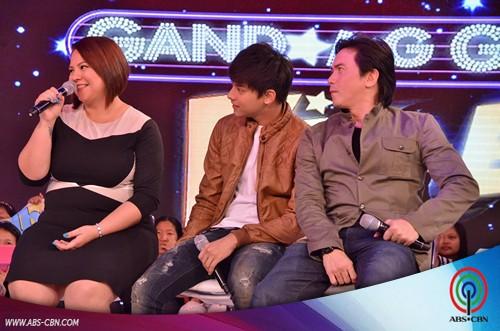 Daniel Padilla with Rommel Padilla and Karla Estrada on Gandang Gabi Vice