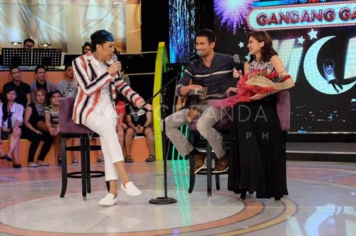 LOOK: Ex-couple Anne Curtis and Sam Milby together on GGV