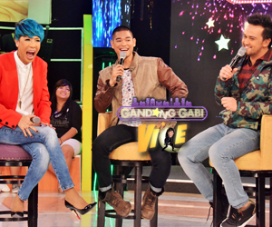 LOOK: Vice, Billy & JayR on GGV stage