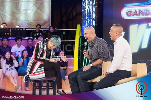 PHOTOS: PBA legends and long time best buddies Benjie Paras and Ronnie Magsanoc on GGV